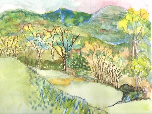 original art landscapes mixed media pennsylvania pleinaire naturesketch sketchbookart sandranestle