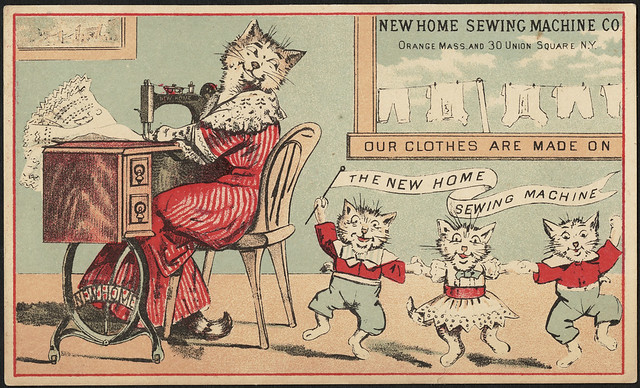 New Home Sewing Machine Co. Our clothes are made on the New Home sewing machine (front)