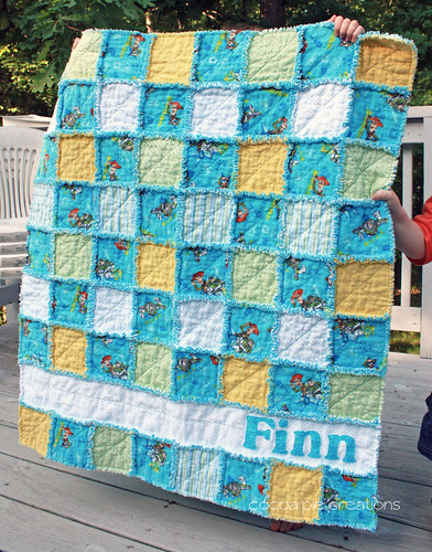 Personalized Boy Rag Quilt