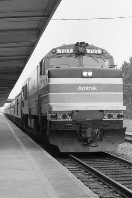 Amtrak Palmetto at Charleston SC, 1977