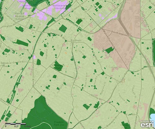 parks are well-distributed in Boston (via TPL ParkScore)