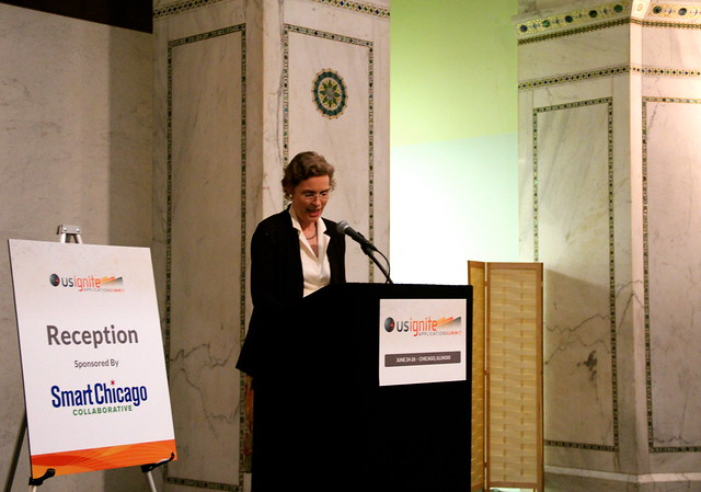 Susan Crawford Addresses the US Ignite Application Summit at the Cultural Center in Chicago
