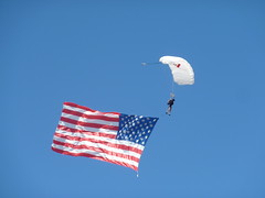 parachute, wind, flag of the united states, flag, flight,