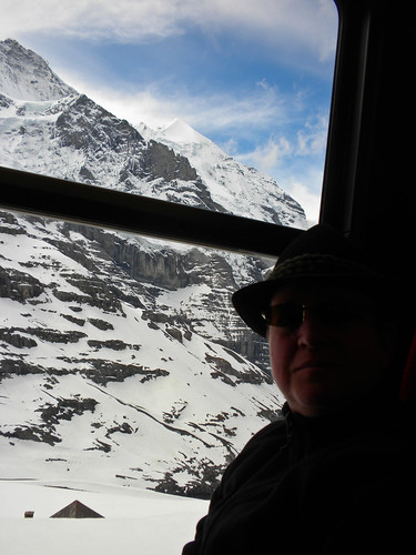 On the cog train.