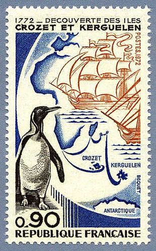 1772. Découverte des îles Crozet et Kerguelen.