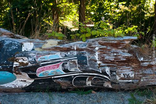 Hosaqa'mi carved by Chief Mungo Martin