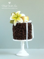 Chocolate Ruffle and Lily Cake