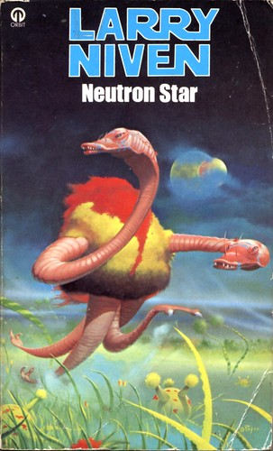 Neutron Star by Larry Niven. Orbit 1982. Cover artist Peter Andrew Jones