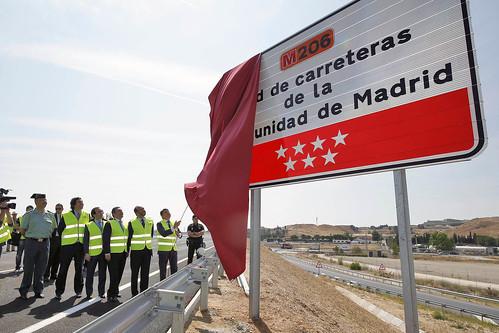 Inauguración de la nueva autovía M-206 en Madrid