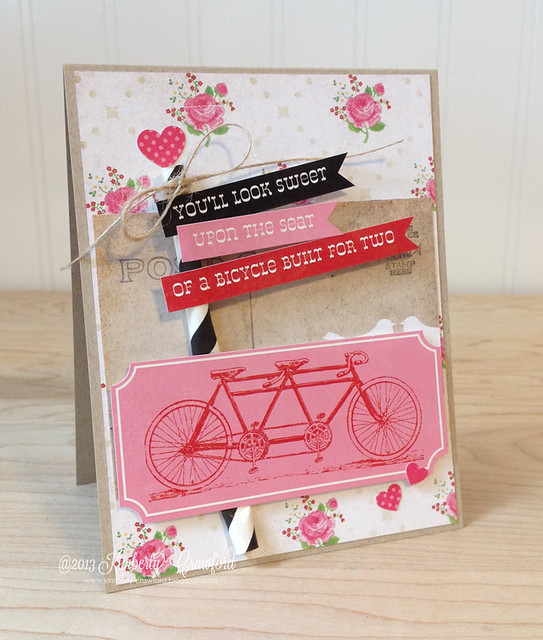 bicycle built for two with Echo Park by Kimberly Crawford