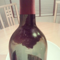 More sediment, less light. 1991 @Groth cabernet.