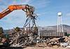 Metal is sorted for recycling during demolition at TA-21