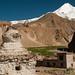 Chorten and Snow-Covered Mountain - Hankar, Markha Valley Trek