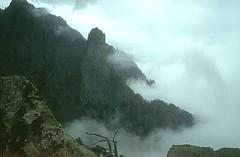 Depuis le sommet du Saltare: arête du Capu Tafonatu dans le mauvais temps