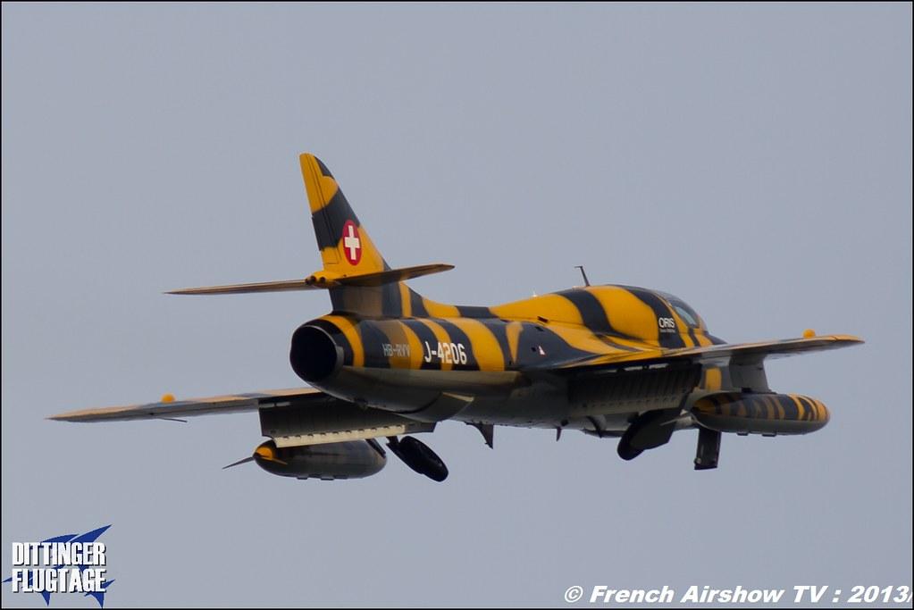 Hawker Hunter oris.ch Dittinger Flugtage 2013