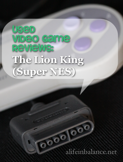Used Disney Game Reviews: the Lion King (Super NES)