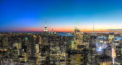 A cool sunset on the big apple