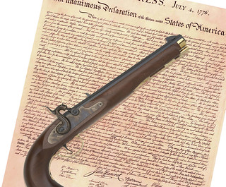 Declaration of Independence, with Firearm