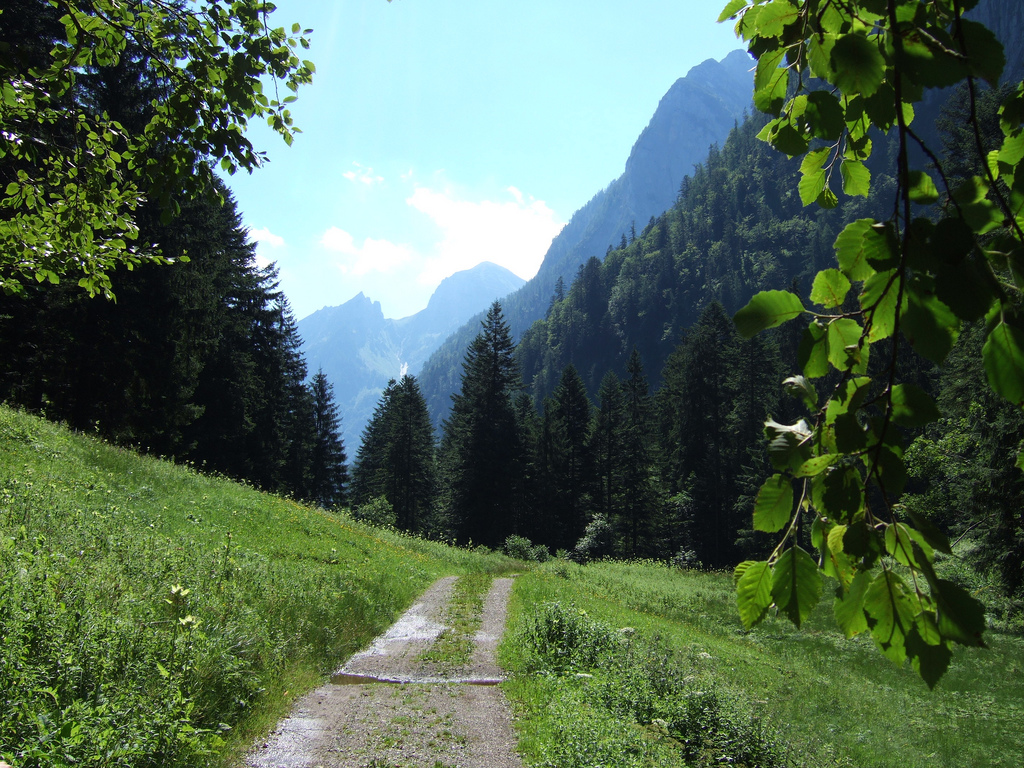 22. Camino cerca de Golling, Austria. Autor, José Kroezen