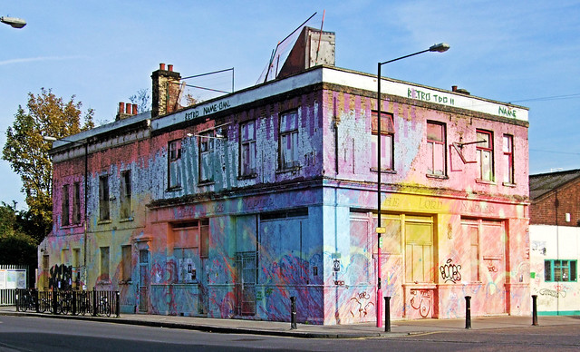 The Former Lord Napier Pub, Hackney Wick - London.