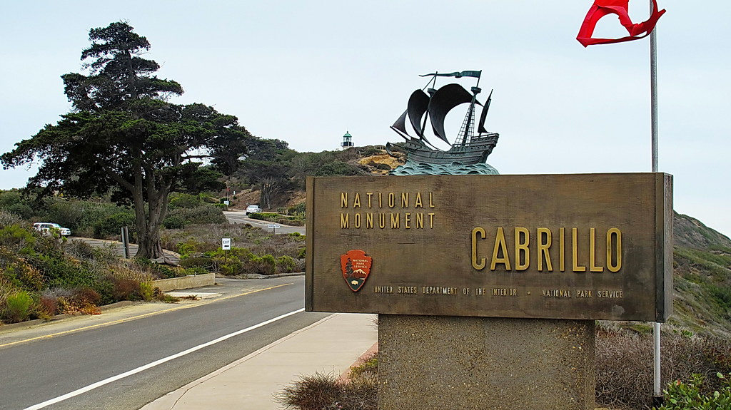 Cabrillo National Monument Entrance sign - Point Loma