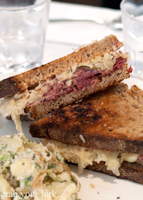 Reuben sandwich at Ruby and Rach, Strattons Hotel Sydney