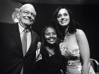 From Left: UNICEF Executive Director Anthony Lake, UNICEF Ethiopia Goodwill Ambassador Hannah Godefa and global pop superstar Katy Perry
