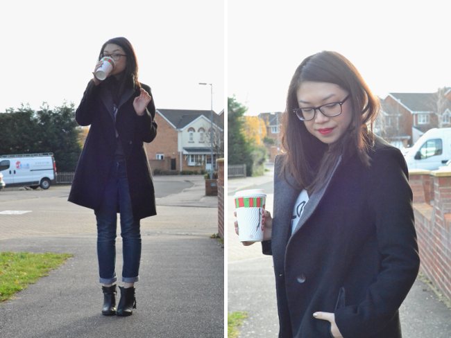 Daisybutter - UK Style and Fashion Blog: what i wore, ootd, uk fashion blogger, blogger in glasses, winter coats