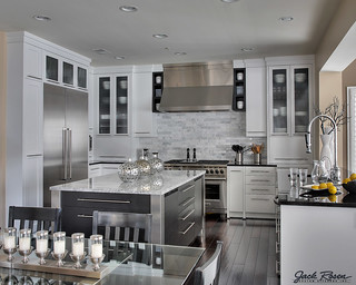 Jack Rosen Custom Kitchens - Modern kitchen with chrome accents