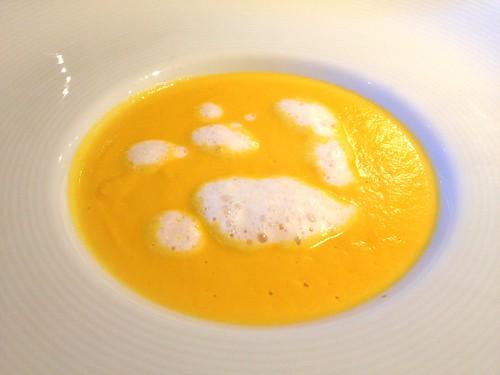 前菜のかぼちゃのスープ@レストランユニック
