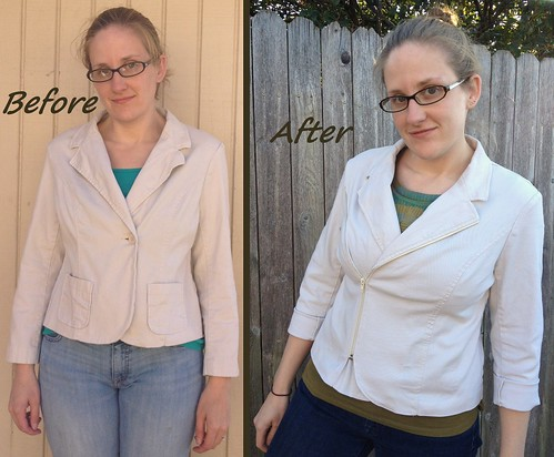Khaki Moto Jacket - Before & After