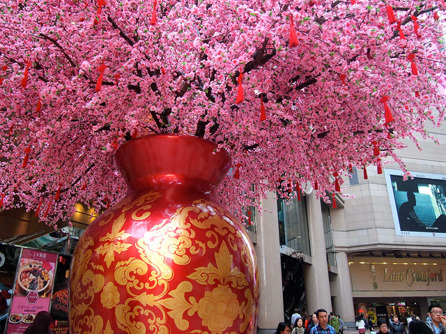 Chinese New Year Decorations at Causeway Bay