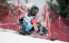 Caleb Brousseau in action during the downhill in Panorama, CAN