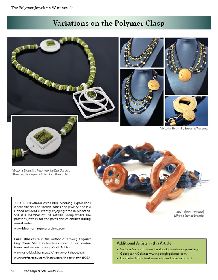 Elysian Studios featured in Polymer Arts Magazine