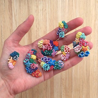 Corals officially make me happy :) they still need finishing touches but should be ready by tomorrow :) #polymerclay #jewelry #coral
