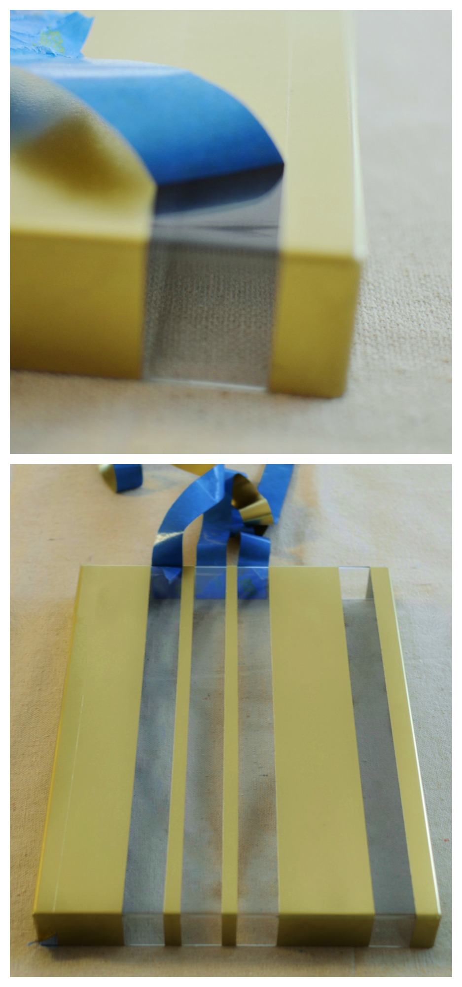 painter's tape to make painted stripes