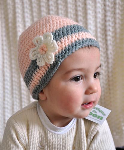 Bonnet au crochet mademoiselle - Mademoiselle beanie