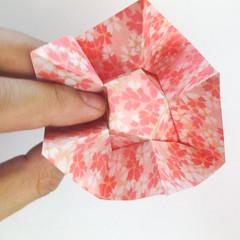 สอนวิธีการพับกระดาษเป็นดอกมะเฟือง (Origami Carambola) 024