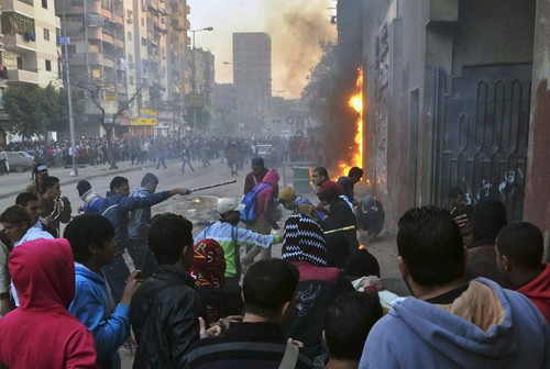 Clashes with anti-military protesters in Egypt resulted in two deaths on Friday, Feb. 7, 2014. Despite the claims of the military regime unrest continues throughout the North African state. by Pan-African News Wire File Photos