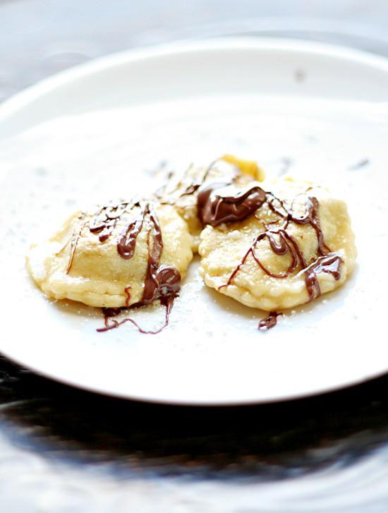 Chocolate and Hazelnut FilledRavioli