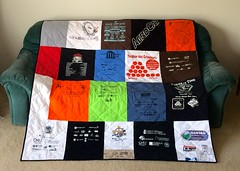 Cycling T-Shirt Quilt Back