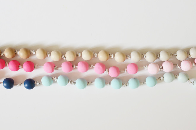 ombre bead garland