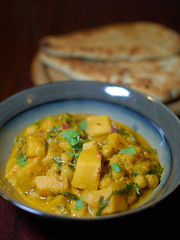 Butternut Squash, Spinach and Chickpea Curry