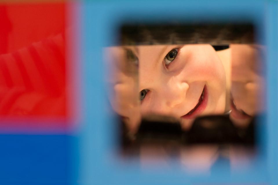 Peeping through the Lego