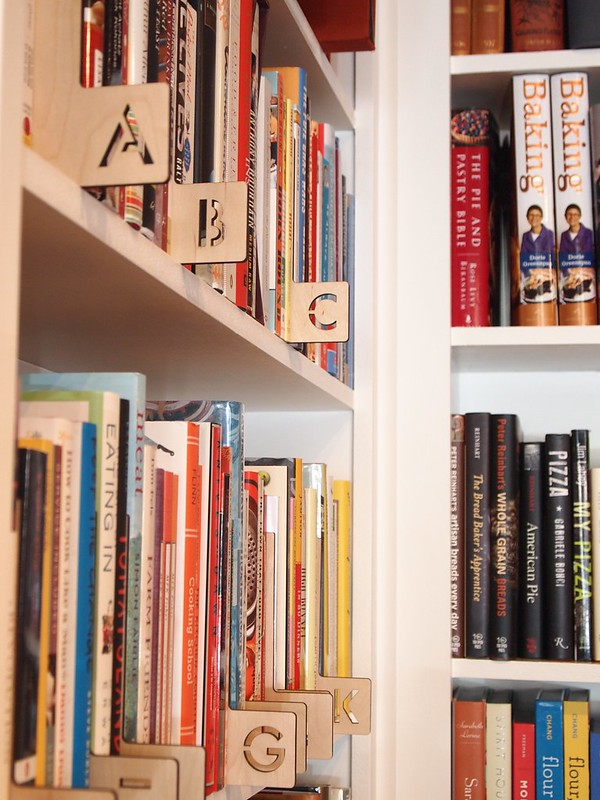 A-Z dividers at Omnivore Books