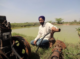 Harmesh Chand of Sandharsi village has got a pond on 3 bigha of his land as a substitute for falling groundwater.