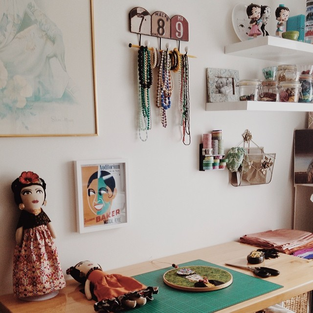 Feeling so inspired by Jennie's beautiful, organised creative space, after catching up with my 'creative brains trust' at her gorgeous house today! @alittlevintagedoll @paravent @yardagedesign I'm part way through overhauling my studio and I can't wait to