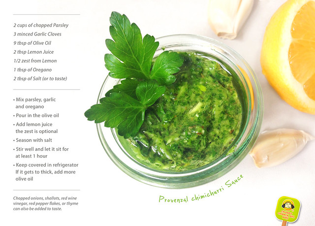 provenzal chimichurri sauce - recipe card