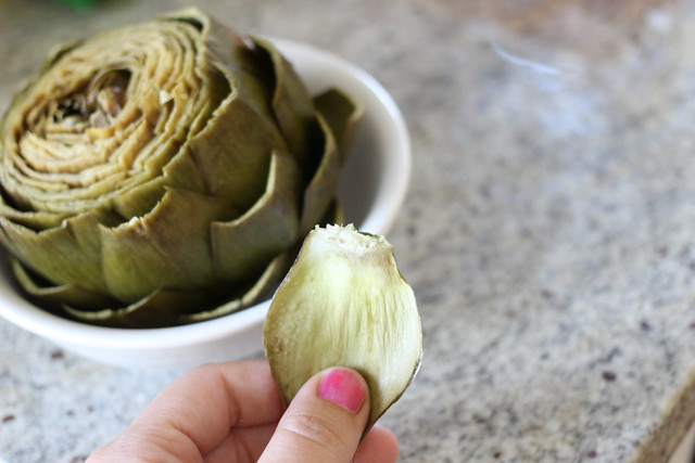 Steamed Lemon Butter Artichoke