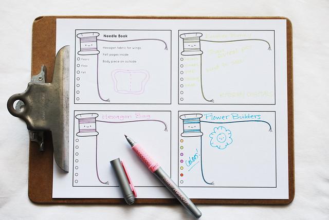 Printable Project Organizer